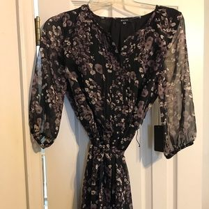 New with tags black shear sleeve dress